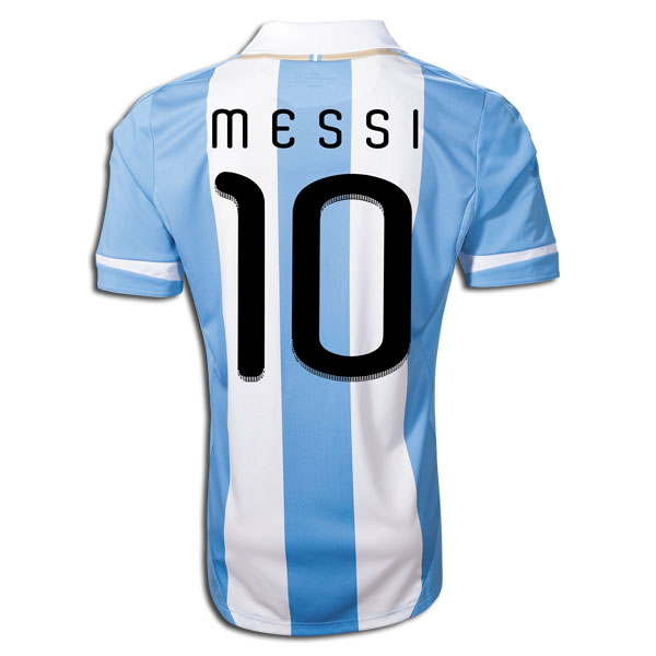 online store 0c5b0 28db0 Authentic Lionel Messi World Cup 2014 Home and Away Argentina and Barcelona  Jerseys